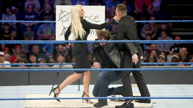 Maryse ohrfeigte bei WWE SmackDown Live The Miz statt Dean Ambrose
