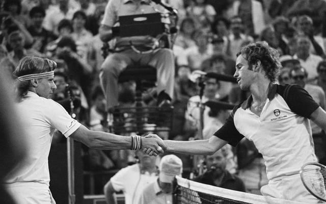 John McEnroe würdigte Björn Borg bei der Gratulation nach einem Spiel keines Blickes