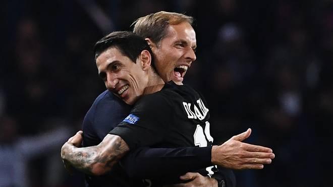 Angel Di Maria (r.) spielt unter Thomas Tuchel eine starke Saison bei Paris Saint-Germain