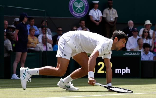 Novak Djokovic hat rund um Wimbledon derzeit nicht nur auf dem Platz zu kämpfen