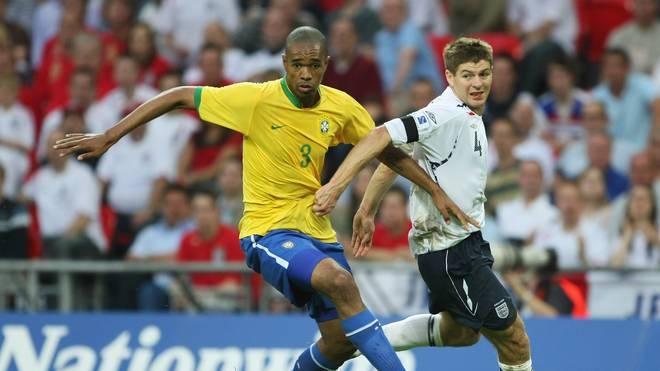 2007 machte Naldo (l.) sein letztes Länderspiel für Brasilien