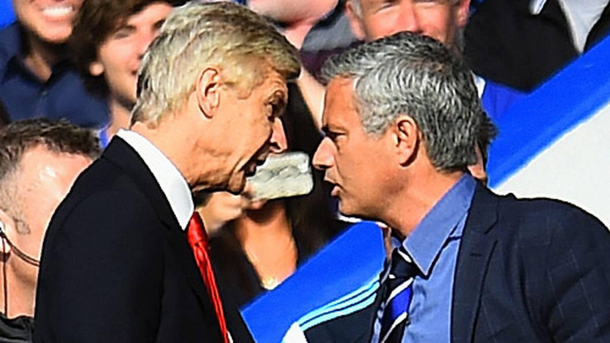 Mit Jose Mourinho wird es nicht langweilig. Erfolge, aber auch Eskapaden pflastern seinen Weg. Der jüngste Eklat: Im Londoner Stadtderby gegen den FC Arsenal gerät der Chelsea-Coach mit Gegenüber Arsene Wenger aneinander. SPORT1 hat die Bilder des portugiesischen Exzentrikers