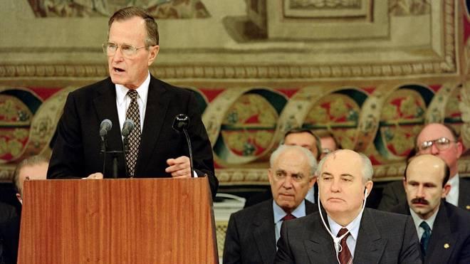 George H.W. Bush war von 1989 bis 1993 Präsident der USA