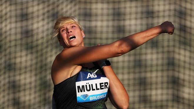 Diskuswerferin Nadine Müller warf beim Hallen-ISTAF inoffiziellen Weltrekord