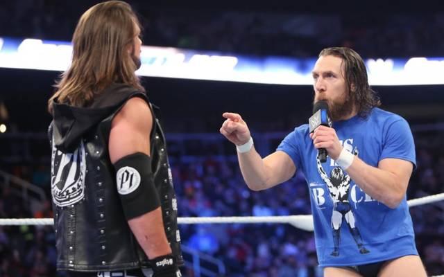 Daniel Bryan (r.) und AJ Styles trafen bereits bei SmackDown Live aufeinander