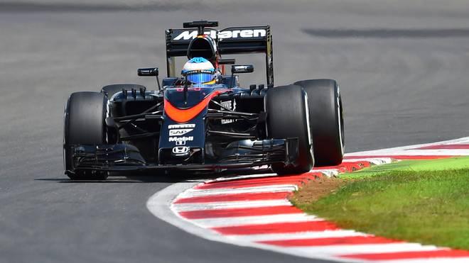 McLaren-Pilot Fernando Alonso fuhr in Silverstone auf den zehnten Rang