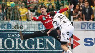Rhein-Neckar Loewen v THW Kiel - DHB Cup-Niklas Landin