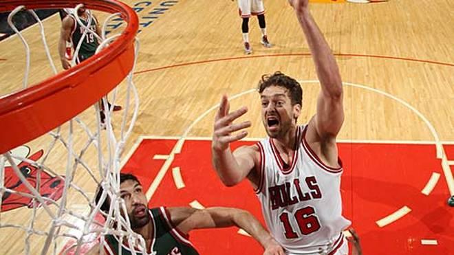 Den dürfte auch Pau Gasol nach seiner Karrierebestleistung von 46 Punkten gegen die Milwaukee Bucks aufgeführt haben. Der Spanier führt seine Bulls damit zum Sieg