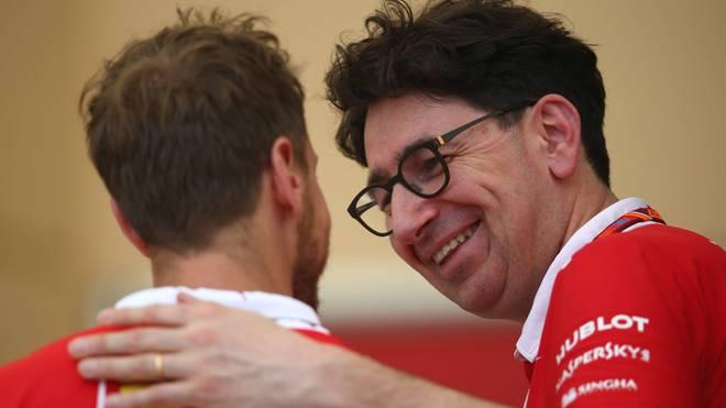 Sebastian Vettel und Mattia Binotto werden in Italien bereits mit dem legendären Ferrari-Duo Schumacher/Brawn verglichen
