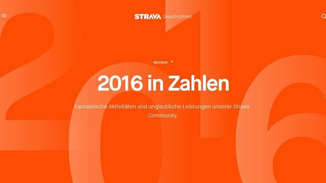 Strava Insights: Das Jahr 2016 auf Strava