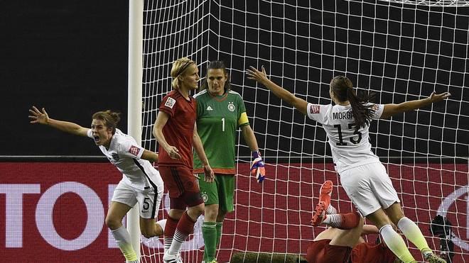 Kelley O'Hara von den USA trifft gegen Deutschland bei der Frauen-WM