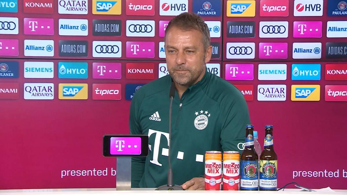 Zuletzt kam es immer wieder zu Differenzen von Hansi Flick mit Sportvorstand Hasan Salihamidžić. Auf der Pressekonferenz spricht der Bayern-Trainer über die Zusammenarbeit der Beiden.