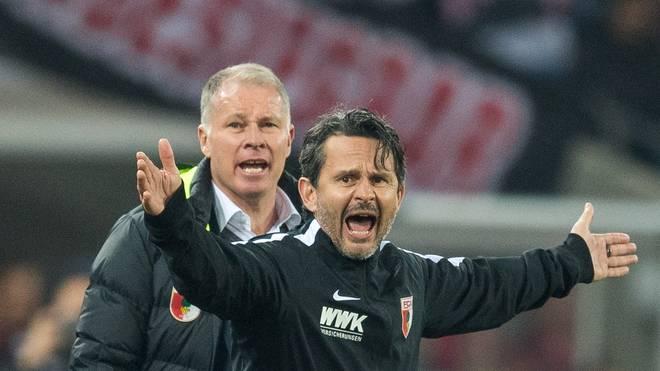 Stefan Reuter (links)  und Trainer Dirk Schuster gehen ab sofort getrennte Wege