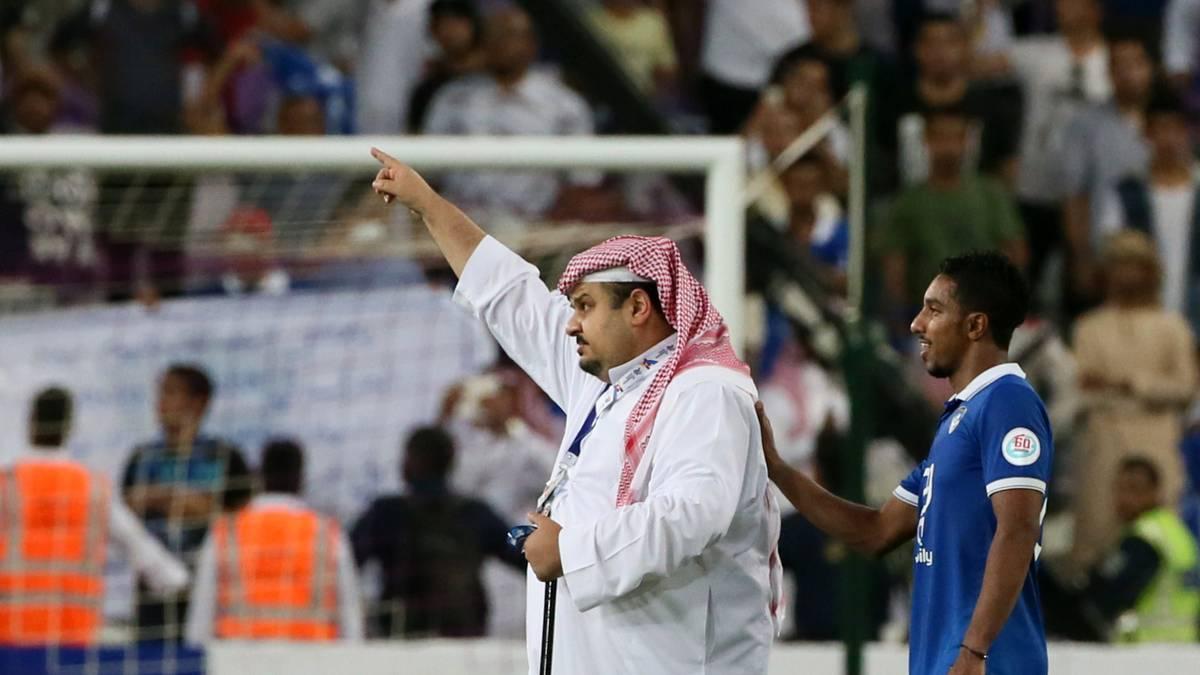 Der saudische Prinz Abdulrahman bin Musaid nach dem Test gegen den FC Bayern München