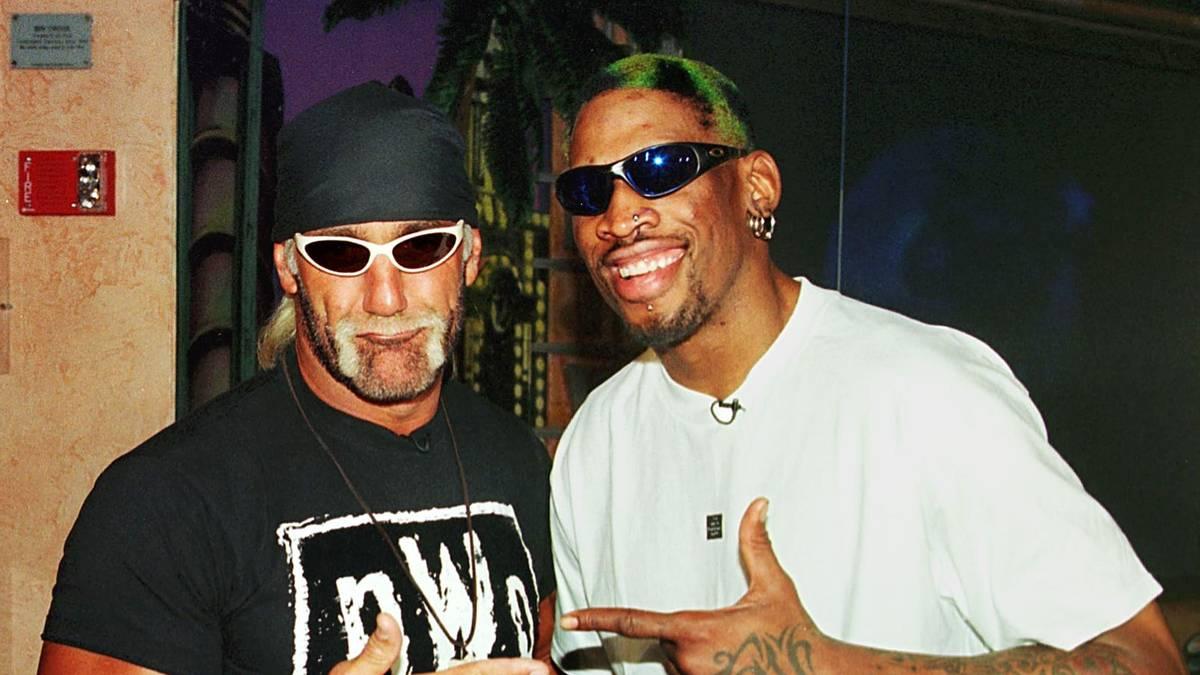 """""""Hollywood"""" Hulk Hogan (l.) holte auch NBA-Bad-Boy Dennis Rodman in nWo"""