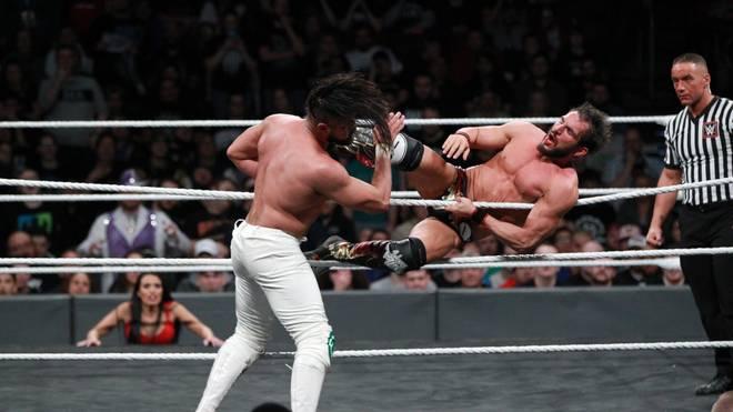 Johnny Gargano (r.) und Andrade Almas bestritten bei den NXT-Tapings ein Rückmatch