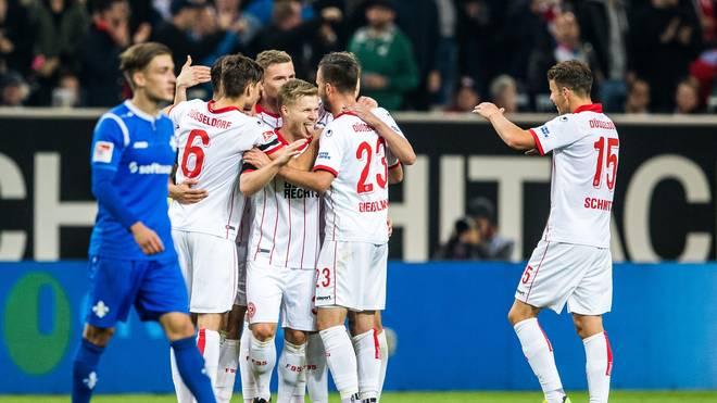 Fortuna Düsseldorf führt die Tabelle in der Zweiten Liga an