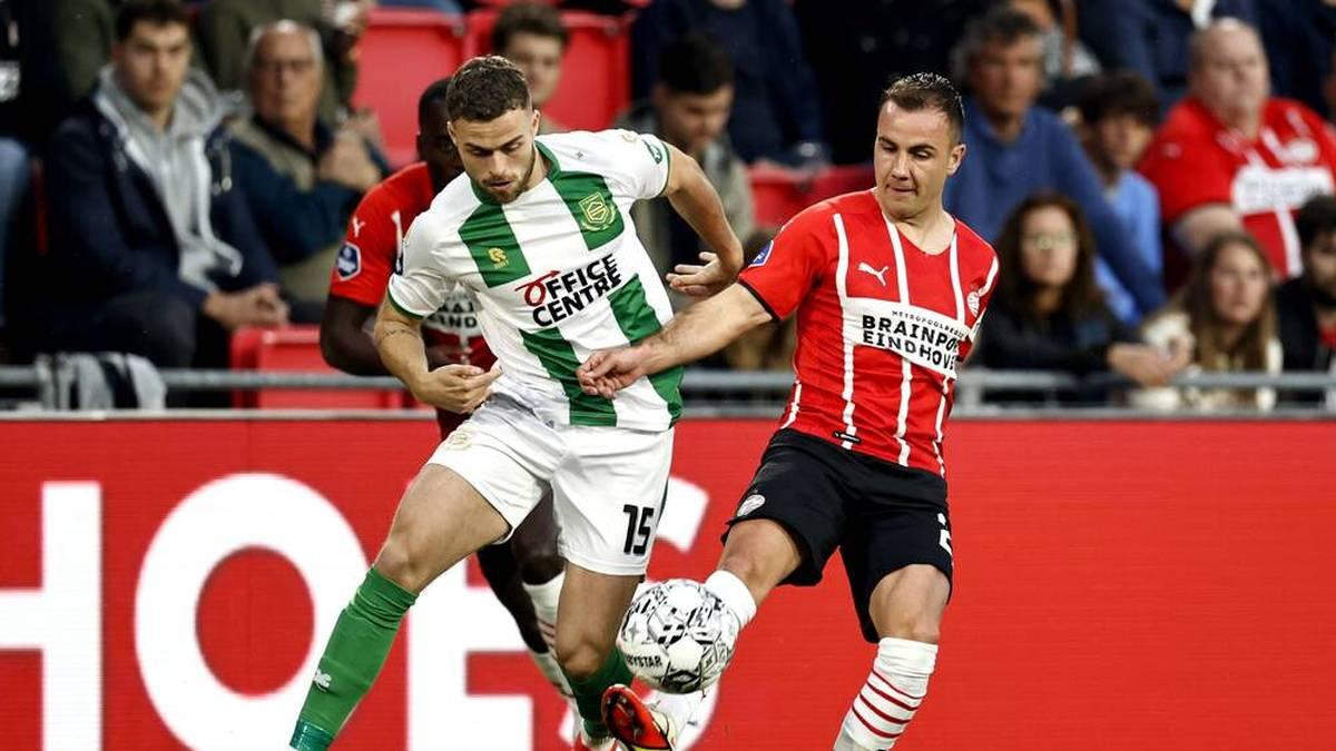 Mario Götze war beim PSV-Sieg gegen Groningen an zwei Tore beteiligt