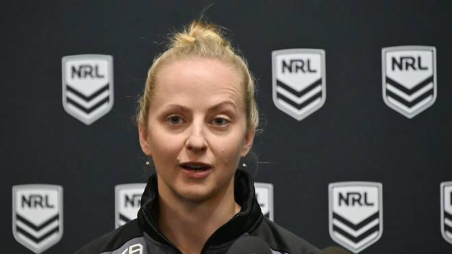 Rugby: Schiedsrichterin leitet Rugby-Ligaspiel in Australien, Belinda Sharpe ist die erste weibliche Schiedsrichterin in Australiens  National Rugby League NRL