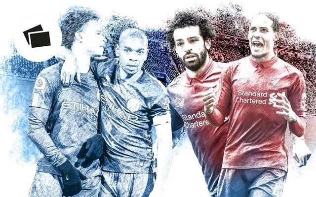 Auf Leroy Sane (l.) könnte gegen Liverpool eine entscheidende Rolle zukommen