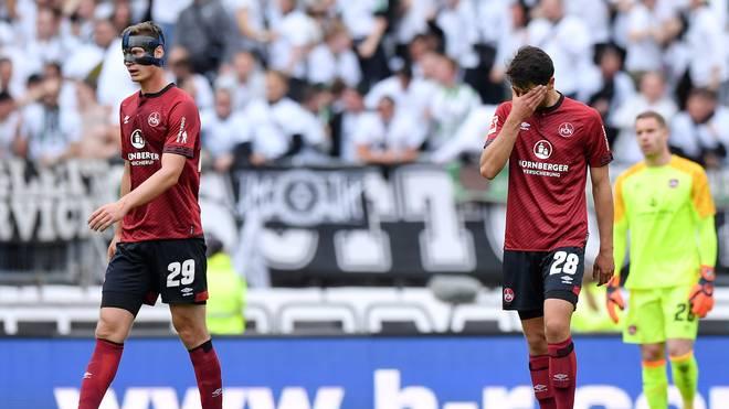 Der 1. FC Nürnberg verlor gegen Borussia Mönchengladbach deutlich