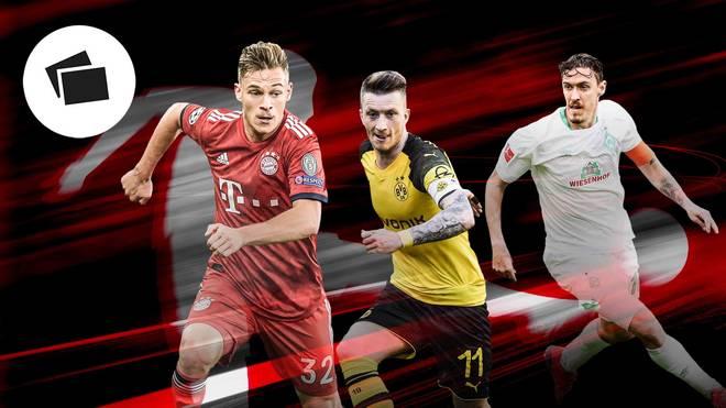 Joshua Kimmich, Marco Reus und Max Kruse stehen für das Bundesliga-Team der Saison zur Wahl