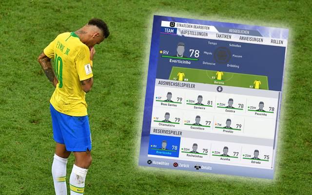 In FIFA 19 wurden die echten brasilianischen Spieler mit erfundenen virtuellen Abbildern ersetzt.