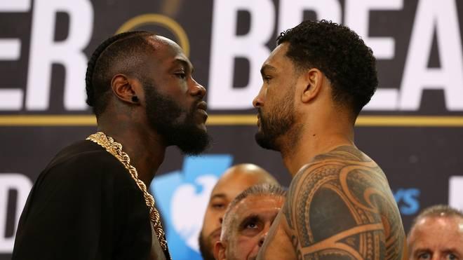 Deontay Wilder (l.) und Dominic Breazeale kämpfen um den WBC-Titel