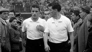 Fritz und Ottmar Walter im Trikot des 1. FC Kaiserslautern