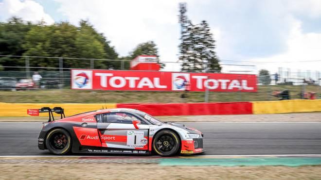 Dries Vanthoor jagte den #1 Audi von WRT klar zur Pole für die 70. 24h Spa