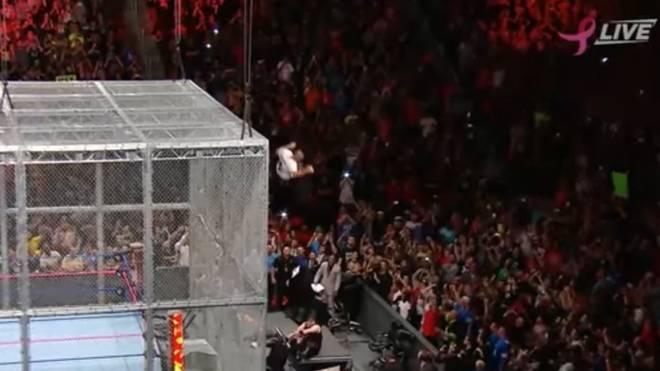 Shane McMahon sprang vom Käfigdach herunter