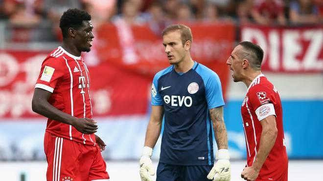 Im Freundschaftsspiel gegen die Kickers Offenbach vor Saisonbeginn konnte Kwasi Wriedt bereits mit Franck Ribery jubeln