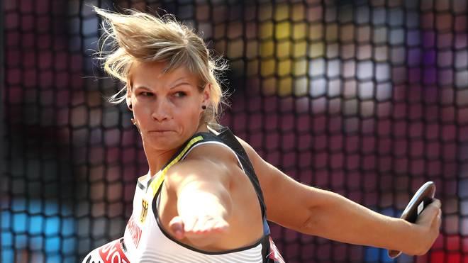 Nadine Müller bei der Leichtathletik-WM