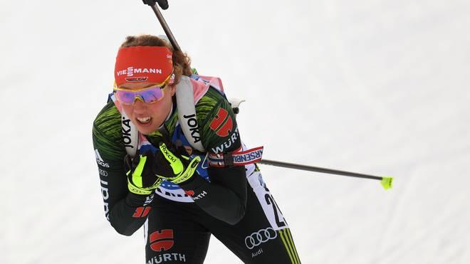 Laura Dahlmeier sichert der DSV-Staffel den Sieg in Ruhpolding