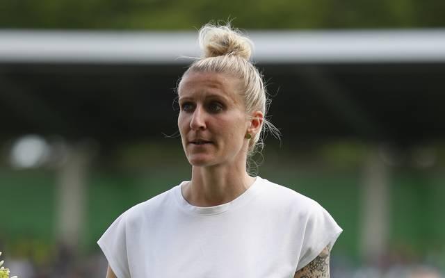 Anja Mittag verabschiedete sich Ende März vom VfL Wolfsburg