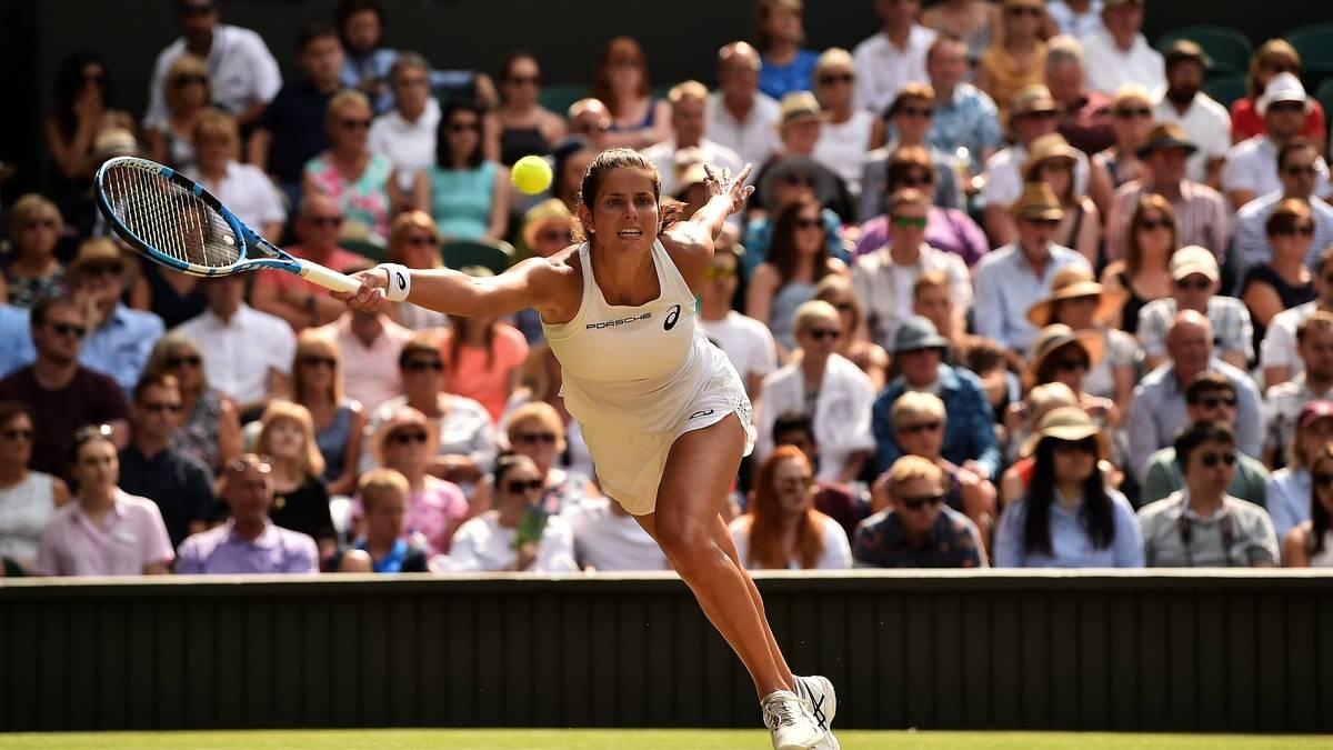 Julia Görges stand 2018 im Halbfinale von Wimbledon