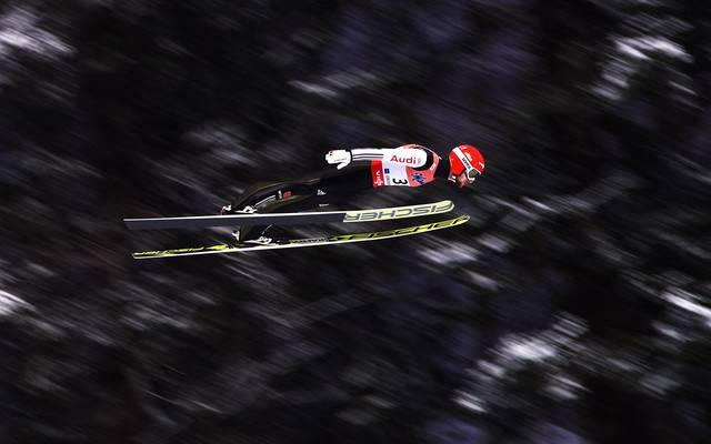 Markus Eisenbichler hält mit 248 Metern den deutschen Rekord im Skifliegen
