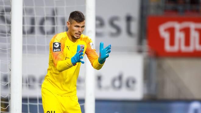 Fabijan Buntic vom FC Ingolstadt steht gegen Würzburger Kickers im Tor