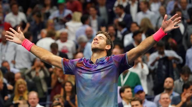 Juan Martin del Potro steht nach dem Sieg gegen Roger Federer im Halbfinale der US Open gegen Rafael Nadal
