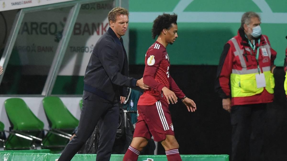Leroy Sané ist aktuell Dauerthema beim FC Bayern. Julian Nagelsmann mahnt zur Geduld beim Flügelflitzer.