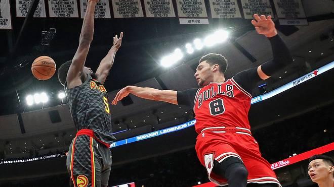 Zach LaVine (r.) war in einem epischen Overtime-Thriller Topscorer der Chicago Bulls