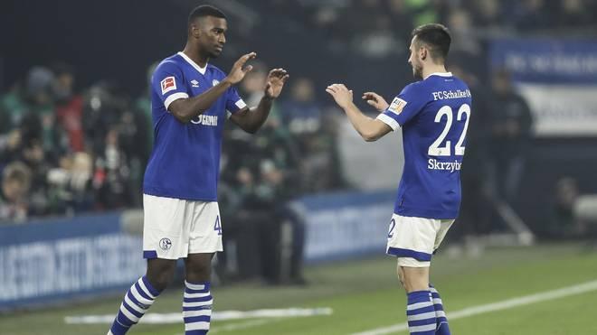 Haji Wright (l.) erzielte in der vergangenen Saison in sieben Bundesliga-Spielen ein Tor