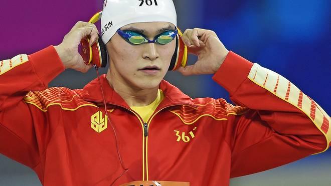 Chinas Superstar Sun Yang gewann in Kasan sein sechstes und siebtes WM-Gold