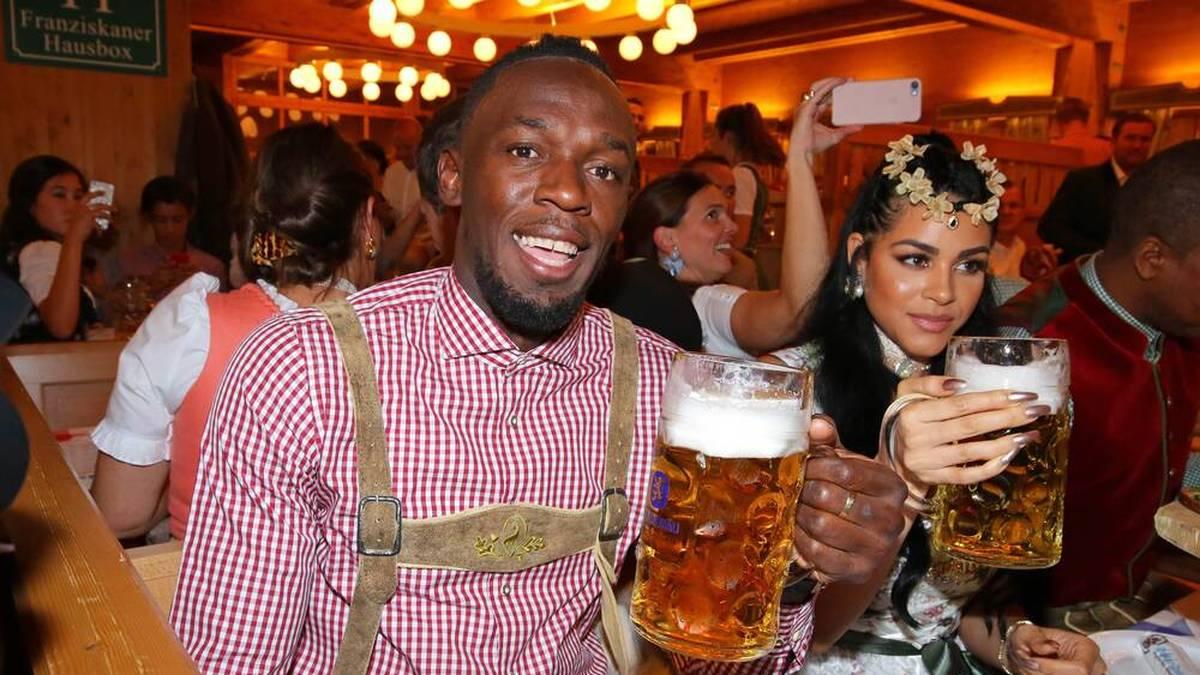 Usain Bolt und Freundin Kasi Bennett beehrten 2017 das Oktoberfest in München