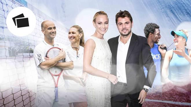Tennis: Traumpaare mit Graf, Agassi, Svitolina, Monfils, Sharapova, Wawrinka