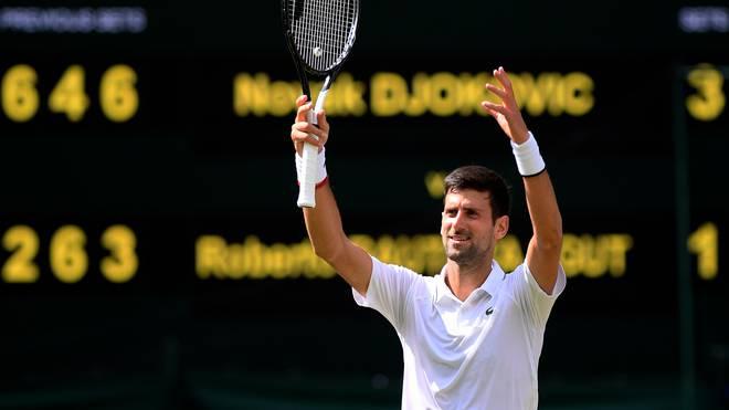 Day Eleven: The Championships - Wimbledon 2019 Zum insgesamt sechsten Mal steht Novak Djokovic im Finale von Wimbledon
