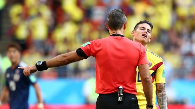 James Rodriguez sah nach einem Frustfoul in der Schlussphase noch die Gelbe Karte