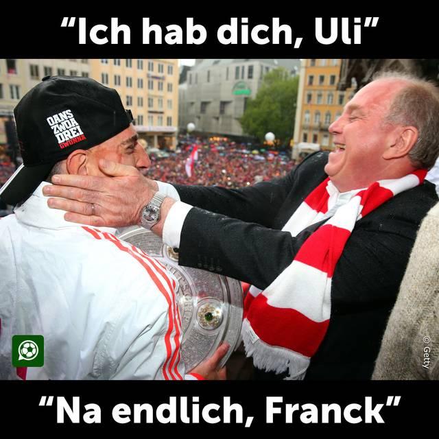 Franck Ribery und Uli Hoeneß