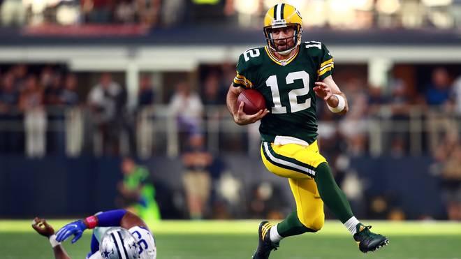 Quarterback Aaron Rodgers glänzt beim Sieg der Packers gegen die Cowboys