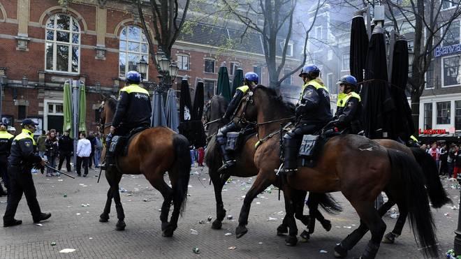 Die Polizei in den Niederlanden streikt